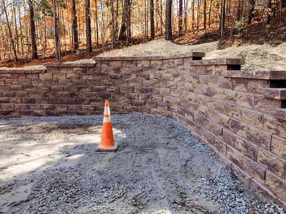 Rutherfordton NC Retaining Wall