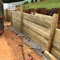 Forest City NC Retaining Wall